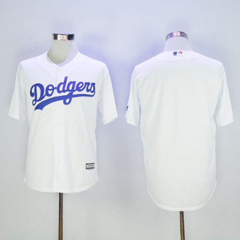 Men Los Angeles Dodgers Blank White MLB Jerseys