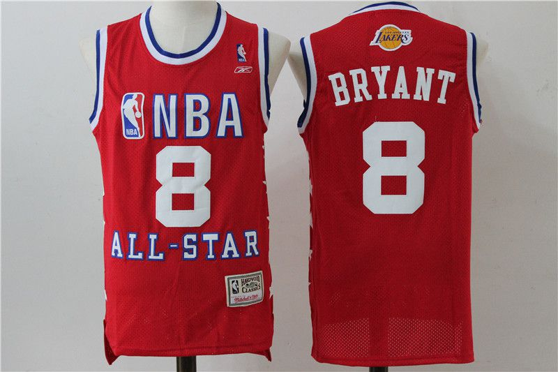 Men Los Angeles Lakers 8 Bryant Red All Star NBA Jerseys