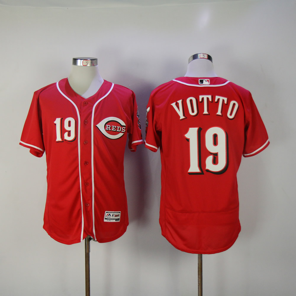 Men MLB Cincinnati Reds 19 Votto red Flexbase jerseys