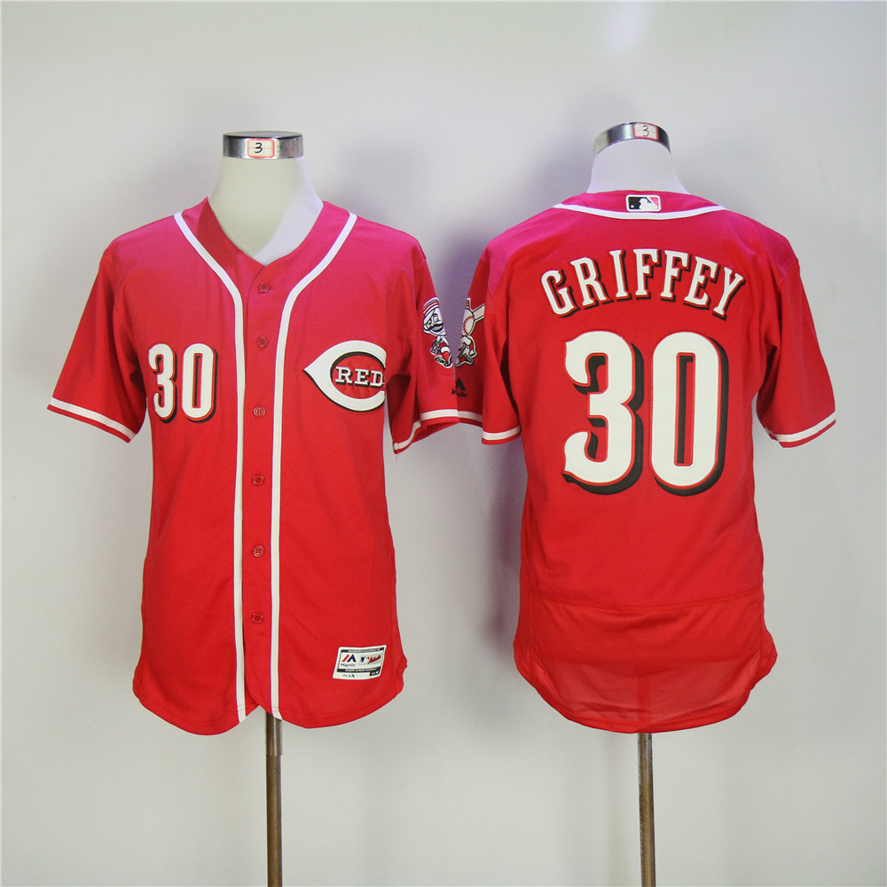 Men MLB Cincinnati Reds 30 Griffey red Flexbase jerseys