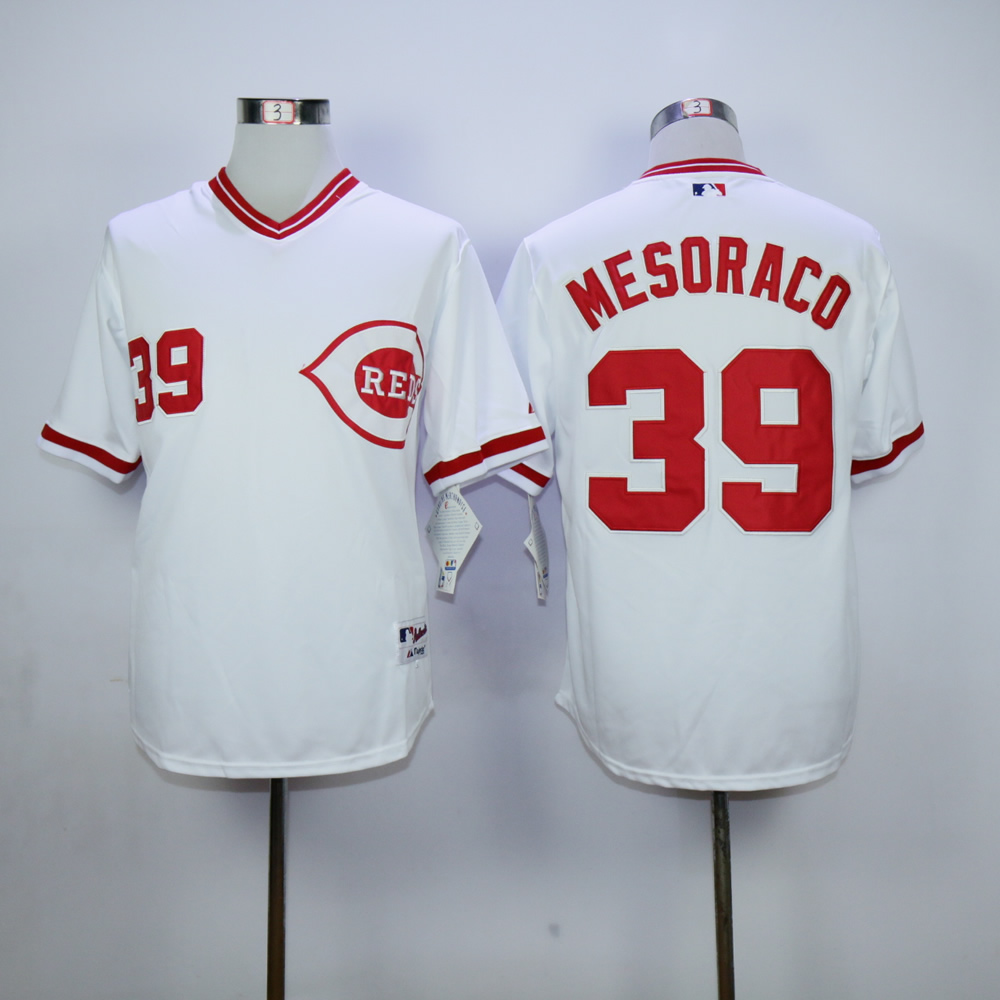 Men MLB Cincinnati Reds 39 Mesoraco white 1990 turn back jerseys
