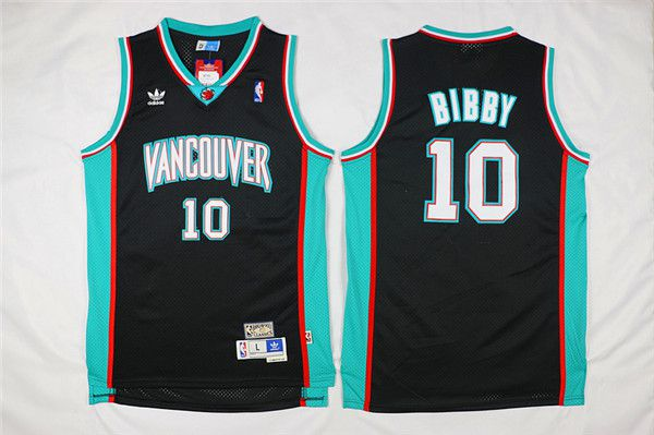 Men Memphis Grizzlies 10 Bibby Black Throwback NBA Jerseys