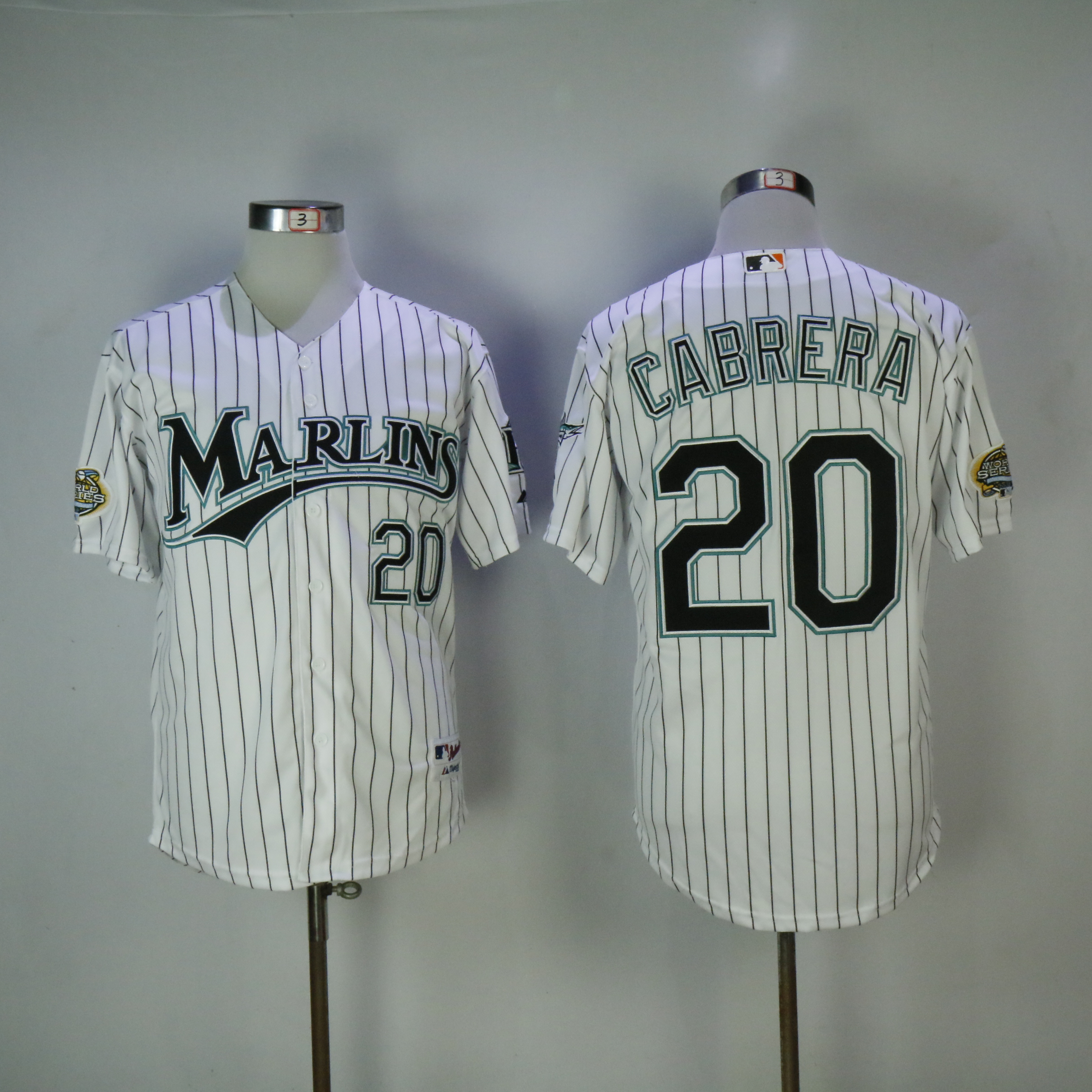 Men Miami Marlins 20 Cabrera White MLB Jerseys