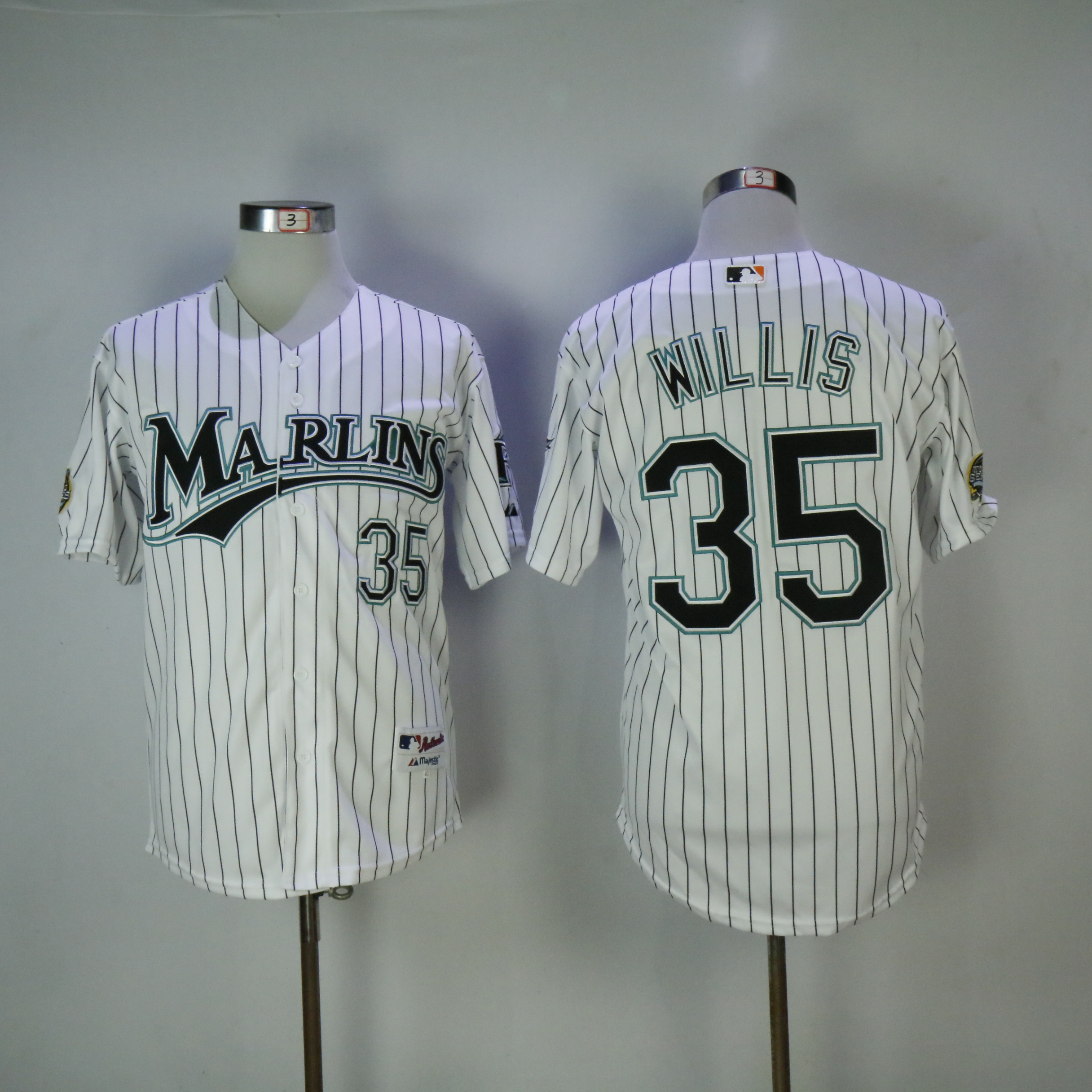 Men Miami Marlins 35 Willis White MLB Jerseys