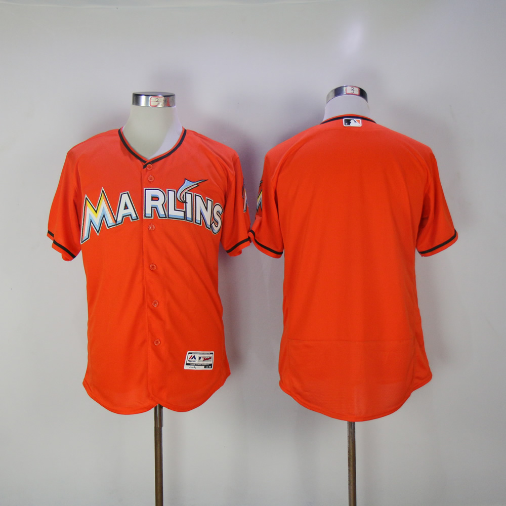 Men Miami Marlins Blank Orange MLB Jerseys