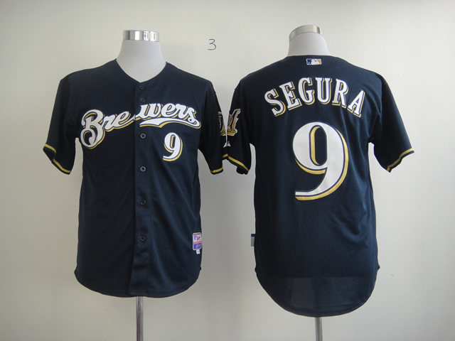 Men Milwaukee Brewers 9 Segura Blue MLB Jerseys