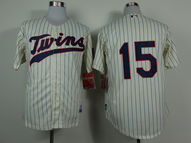 Men Minnesota Twins 15 Perkins Cream MLB Jerseys