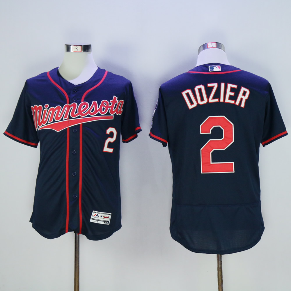 Men Minnesota Twins 2 Dozier Blue MLB Jerseys