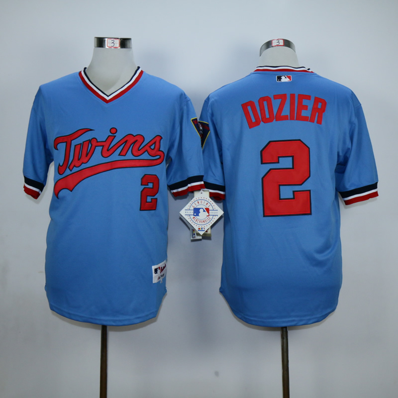 Men Minnesota Twins 2 Dozier Blue Trowback MLB Jerseys