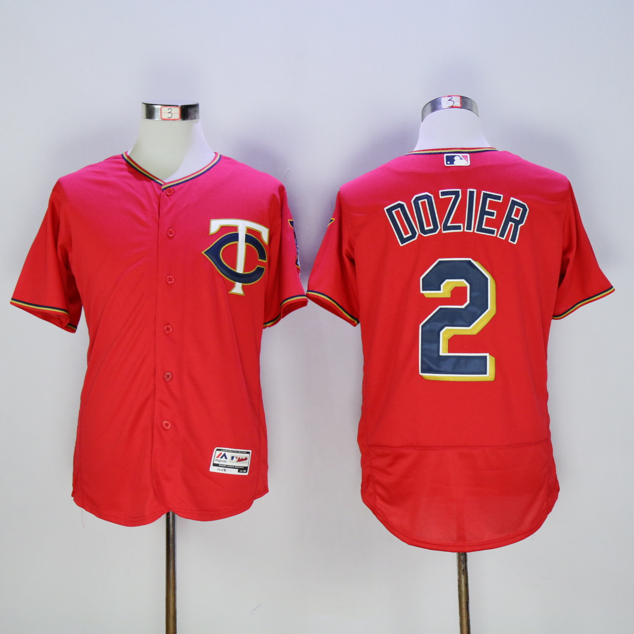 Men Minnesota Twins 2 Dozier Red MLB Jerseys
