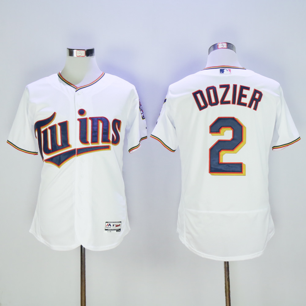 Men Minnesota Twins 2 Dozier White MLB Jerseys
