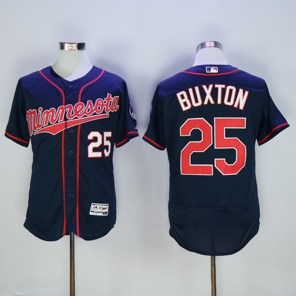 Men Minnesota Twins 25 Buxton Blue MLB Jerseys