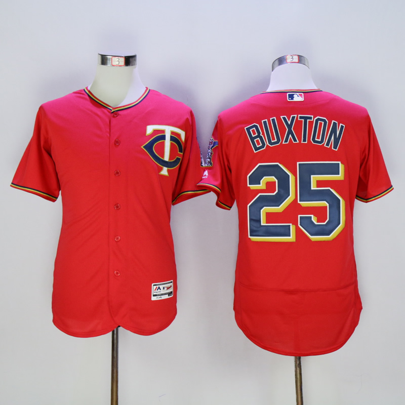 Men Minnesota Twins 25 Buxton Red MLB Jerseys