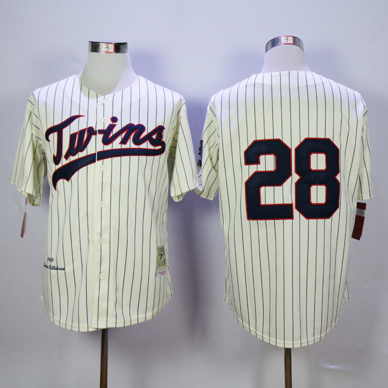 Men Minnesota Twins 28 Blyleven Cream Throwback 1970 MLB Jerseys