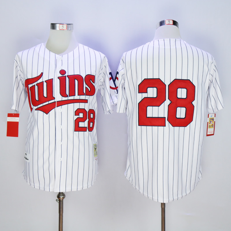 Men Minnesota Twins 28 Blyleven White Throwback 1991 MLB Jerseys