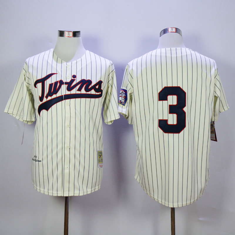 Men Minnesota Twins 3 Killebrew Cream Throwback 1969 MLB Jerseys