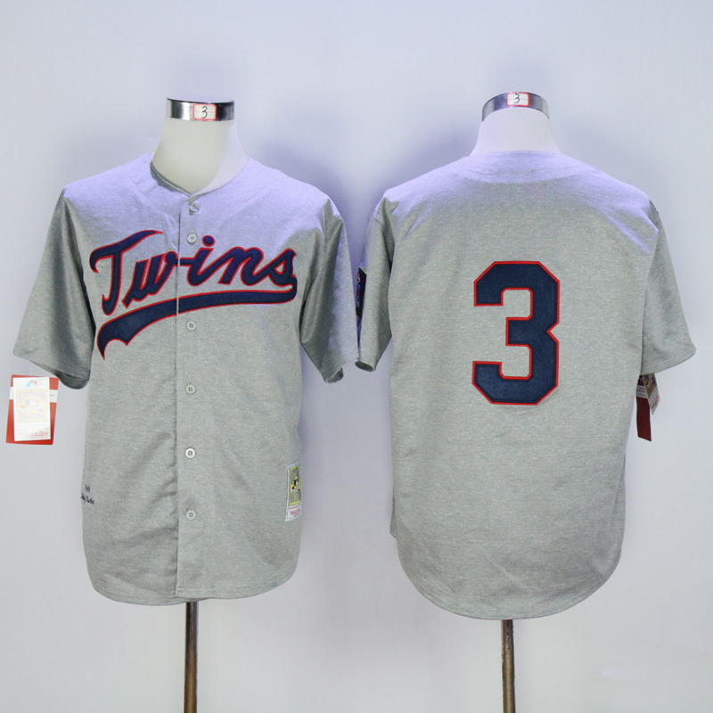 Men Minnesota Twins 3 Killebrew Grey Throwback 1969 MLB Jerseys