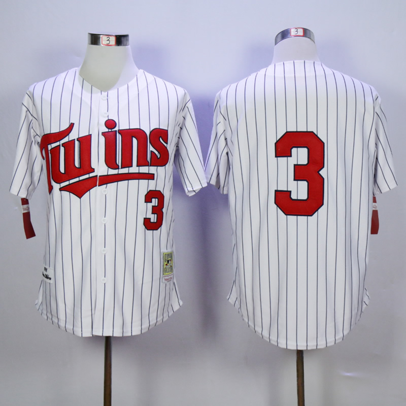 Men Minnesota Twins 3 Killebrew White Throwback 1991 MLB Jerseys