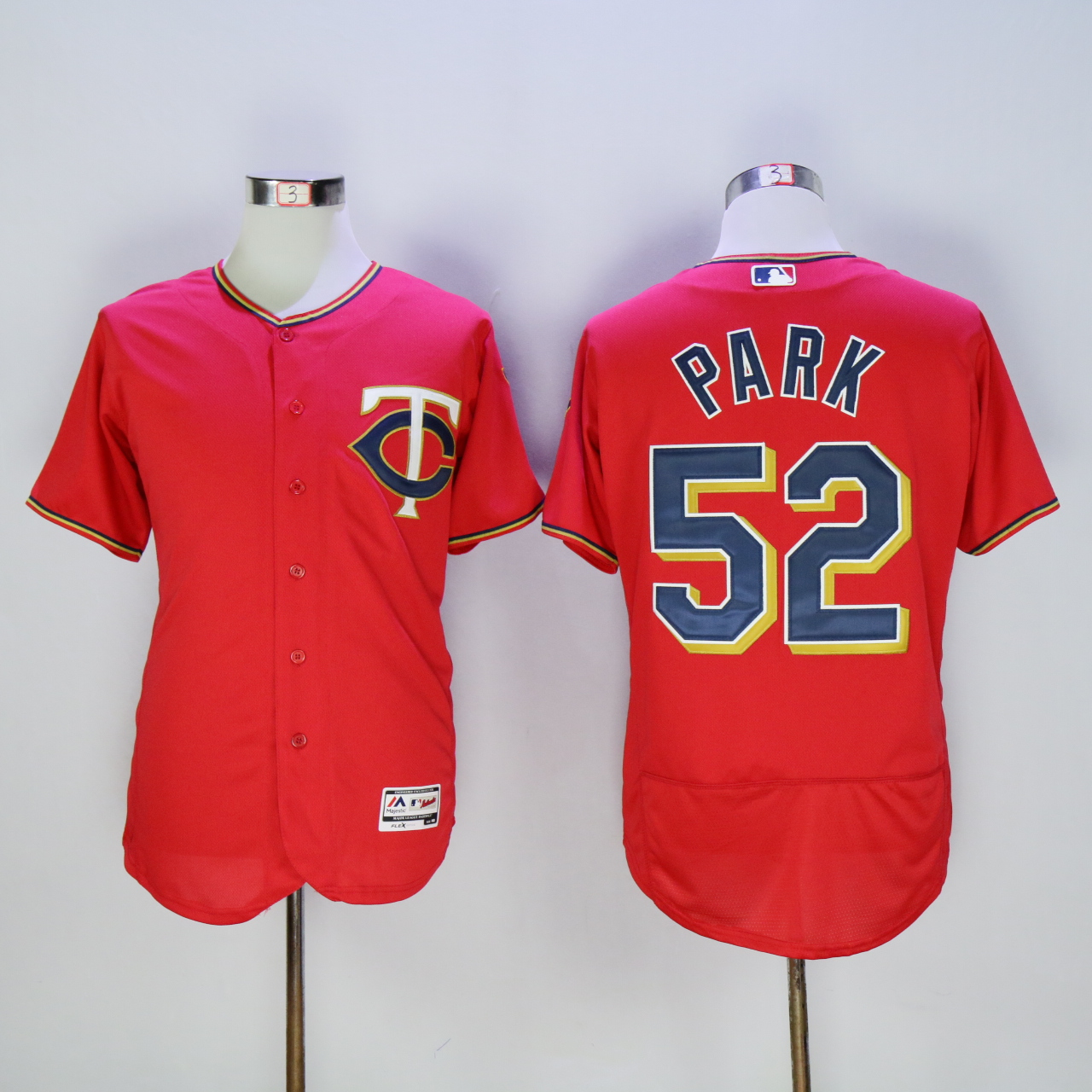 Men Minnesota Twins 52 Park Red MLB Jerseys