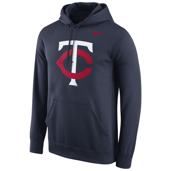 Men Minnesota Twins Nike Logo Performance Pullover Hoodie Navy