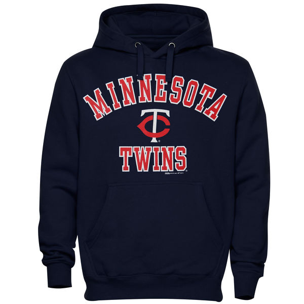 Men Minnesota Twins Stitches Fastball Fleece Pullover Hoodie Navy Blue