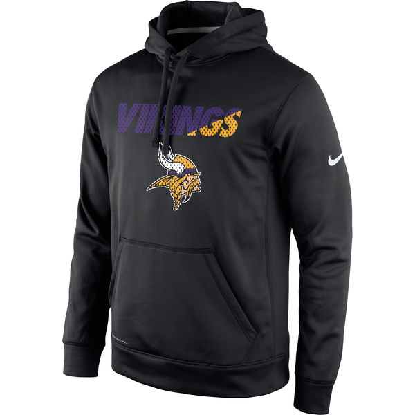 Men Minnesota Vikings Nike Kick Off Staff Performance Pullover Hoodie Black