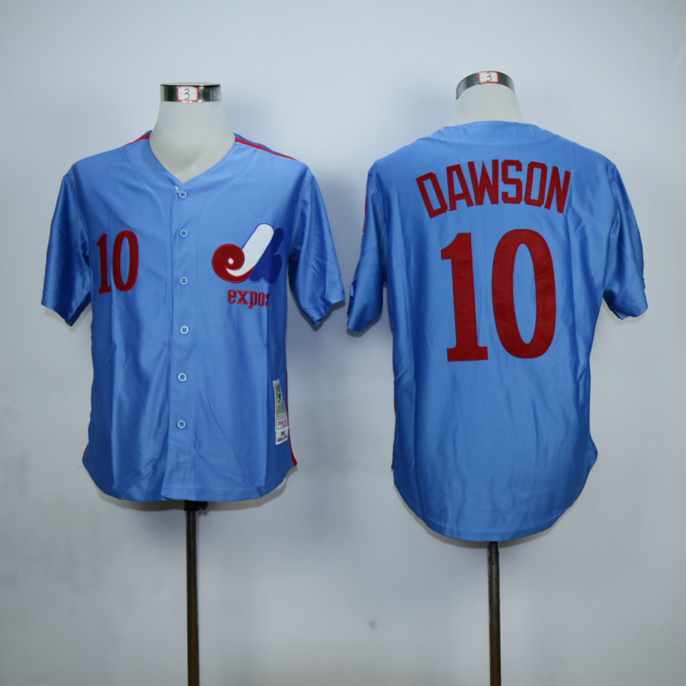 Men Montreal Expos 10 Dawson Blue MLB Jerseys