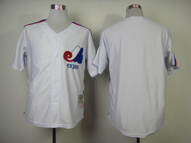 Men Montreal Expos Blank White MLB Jerseys