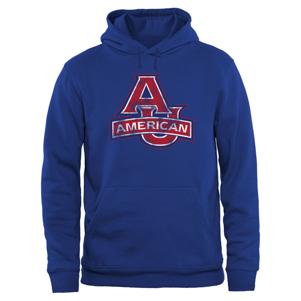 Men NCAA American Eagles Big Tall Classic Primary Pullover Hoodie Royal