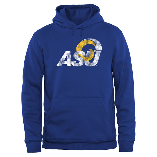 Men NCAA Angelo State Rams Big Tall Classic Primary Pullover Hoodie Royal