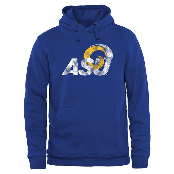 Men NCAA Angelo State Rams Classic Primary Pullover Hoodie Royal
