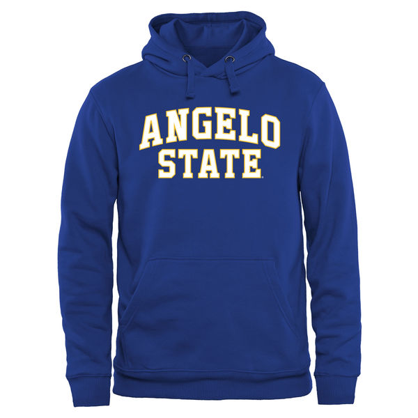 Men NCAA Angelo State Rams Everyday Pullover Hoodie Royal