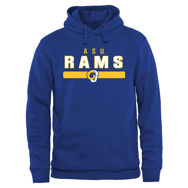 Men NCAA Angelo State Rams Team Strong Pullover Hoodie Royal Blue