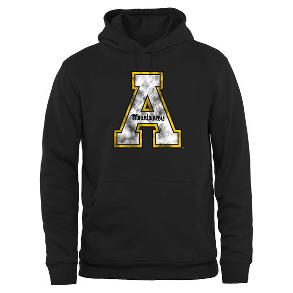 Men NCAA Appalachian State Mountaineers Big Tall Classic Primary Pullover Hoodie Black