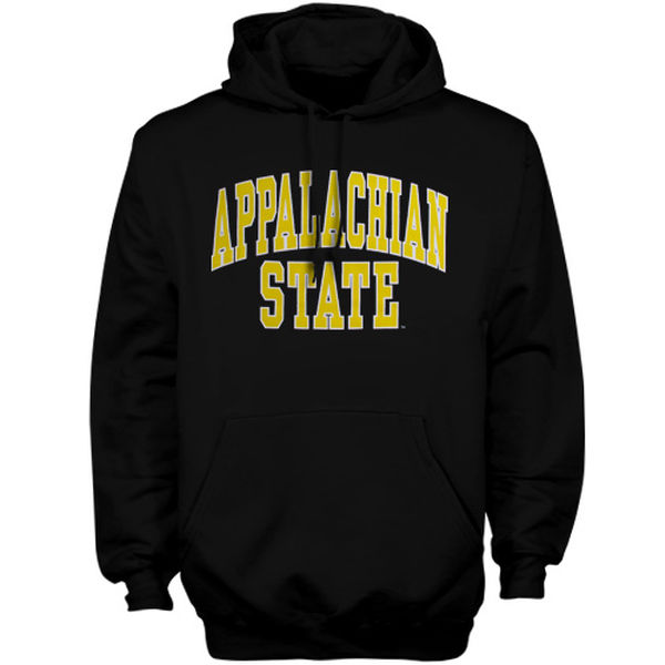 Men NCAA Appalachian State Mountaineers Bold Arch Hoodie Black