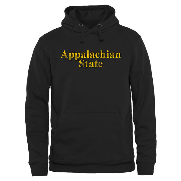 Men NCAA Appalachian State Mountaineers Classic Wordmark Pullover Hoodie Black