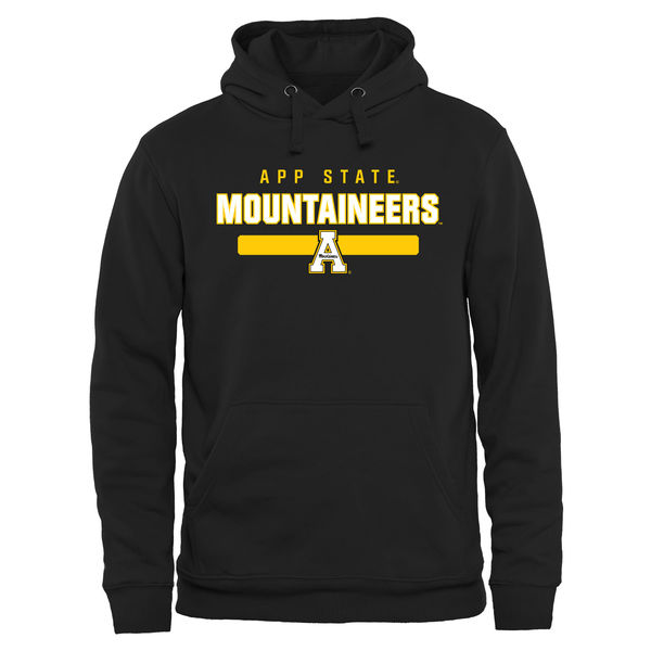 Men NCAA Appalachian State Mountaineers Team Strong Pullover Hoodie Black