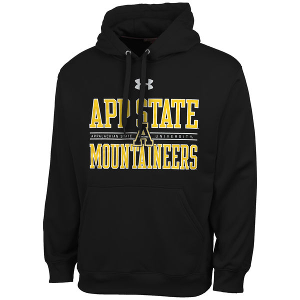 Men NCAA Appalachian State Mountaineers Under Armour Performance Hoodie Black