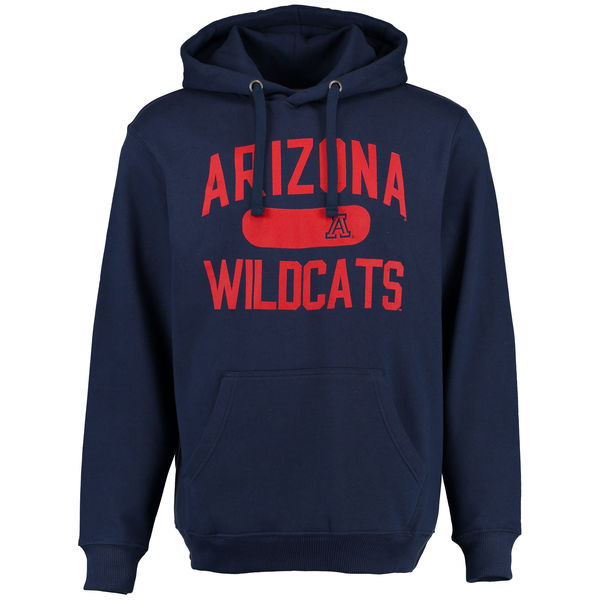 Men NCAA Arizona Wildcats Athletic Issued Pullover Hoodie Navy