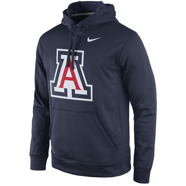 Men NCAA Arizona Wildcats Nike Practice Performance Hoodie Navy