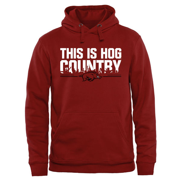 Men NCAA Arkansas Razorbacks Our House Pullover Hoodie Cardinal