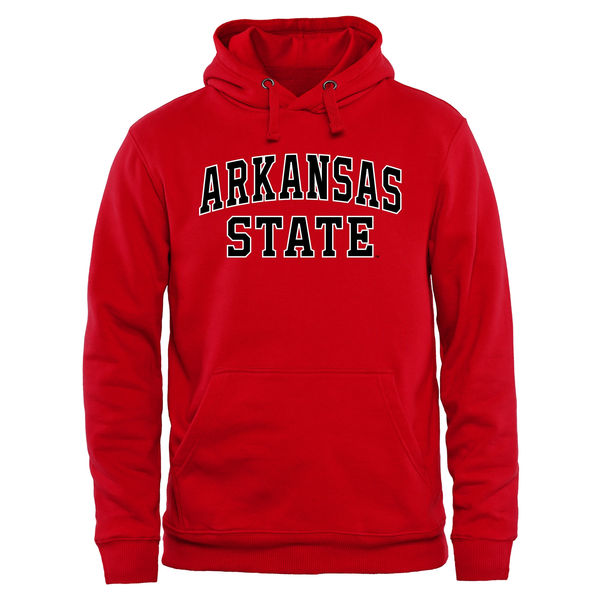 Men NCAA Arkansas State Red Wolves Everyday Pullover Hoodie Red