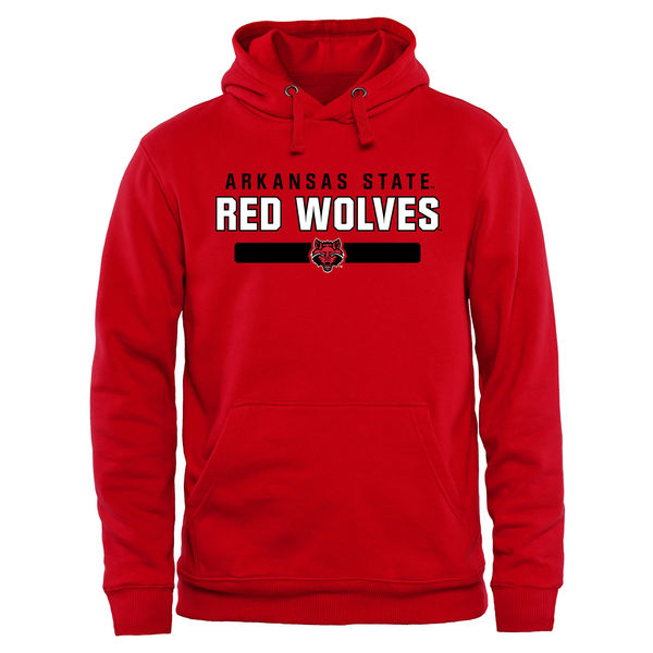 Men NCAA Arkansas State Red Wolves Team Strong Pullover Hoodie Scarlet