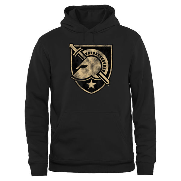 Men NCAA Army Black Knights Big Tall Classic Primary Pullover Hoodie Black
