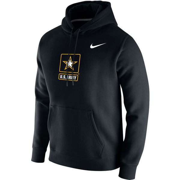 Men NCAA Army Black Knights Nike Big Logo Fleece Hoodie Black