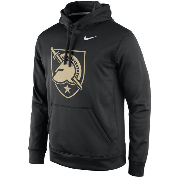Men NCAA Army Black Knights Nike Practice Performance Hoodie Black