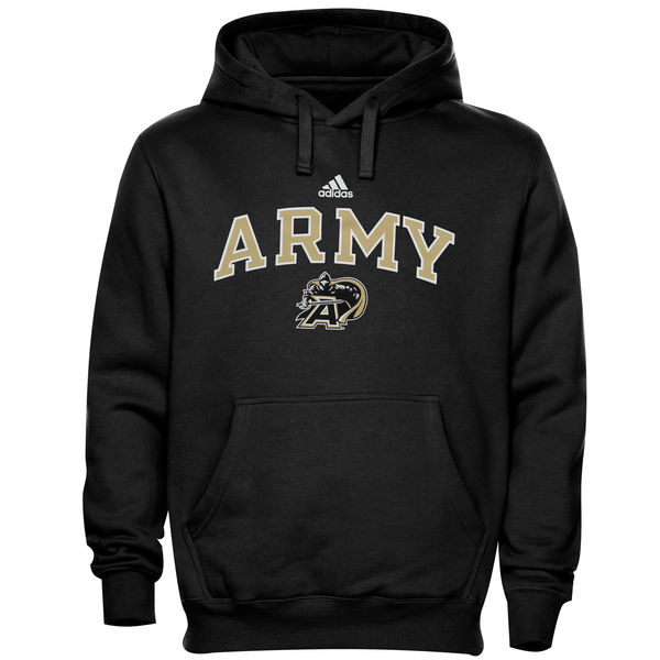 Men NCAA Army Black Knights adidas In Play Pullover Hoodie Black