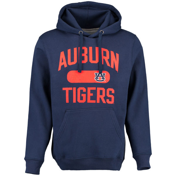 Men NCAA Auburn Tigers Athletic Issued Pullover Hoodie Navy