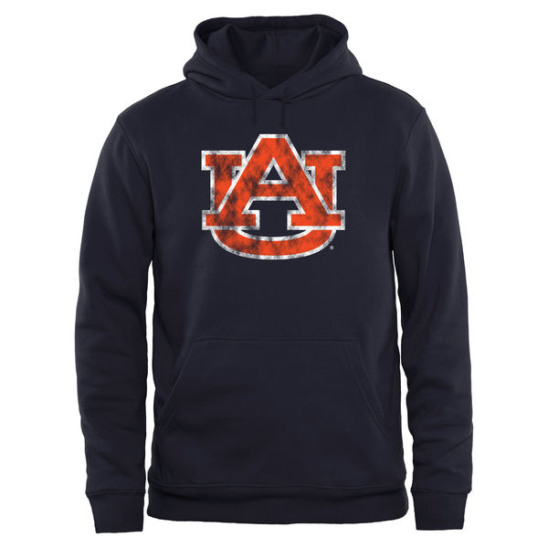 Men NCAA Auburn Tigers Big Tall Classic Primary Pullover Hoodie Navy
