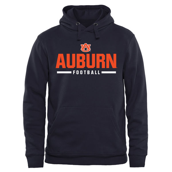 Men NCAA Auburn Tigers Custom Sport Pullover Hoodie Navy